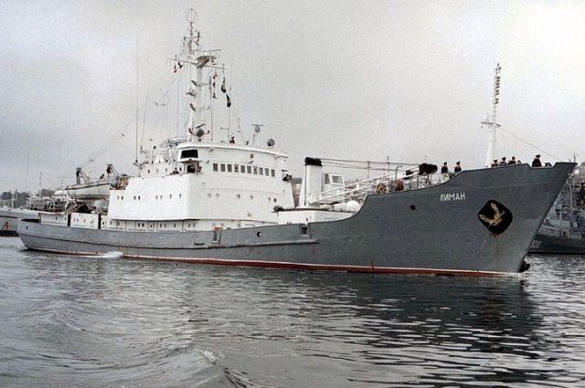 В Черном море после столкновения с другим судном затонул корабль РФ