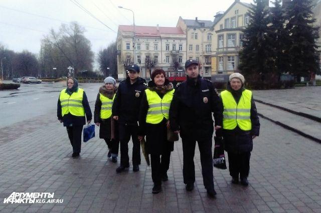 Народные дружины на улицах Советска.