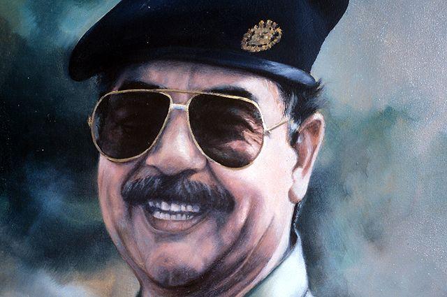 Саддам Хусейн. Картина современного иракского художника. Репродукция.