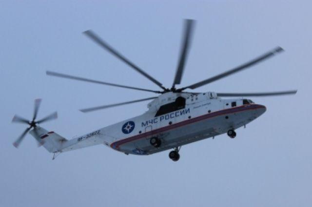 В Шарыповском районе зафиксировано более 40 термических точек, для тушения пожаров туда вылетал вертолёт Ми-8.