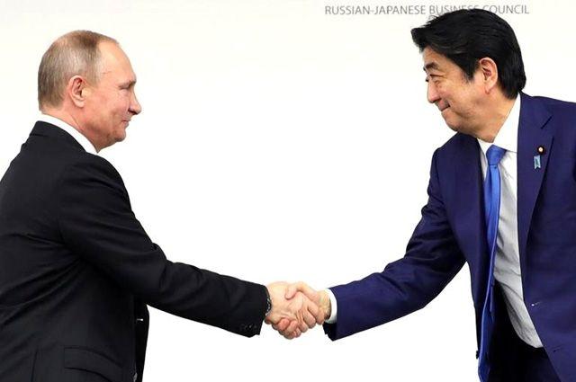 ЛидерыРФ иЯпонии планируют минимум еще два раза увидеться в2015-м году
