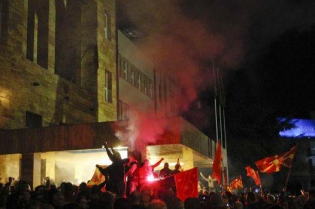Протесты в Скопье
