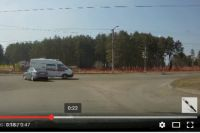 Место ДТП с автомобилем скорой помощи в Ангарске.