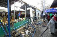 Демонтаж самостроя на Центральном рынке Симферополя.