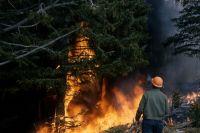 Накануне в деревне Белогорка Манского района, произошёл крупный пожар.