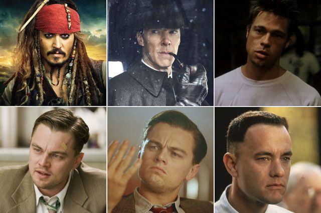 Капитан Джек Воробей, Шерлок Холмс, Тайлер Дерден, Тедди Дениелс, Говард Хьюз, Форрест Гамп.