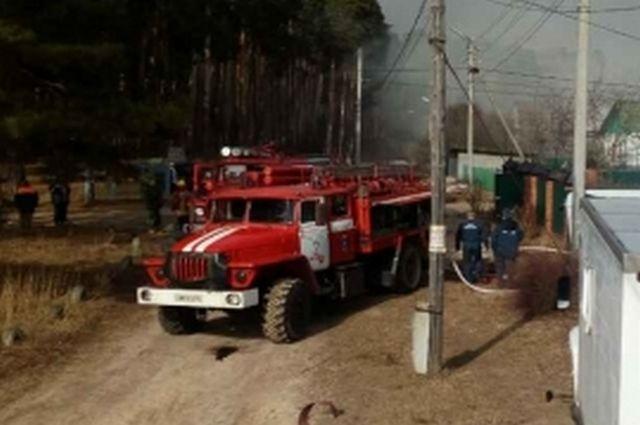 В итоге пожара вгараже впосёлке Солотча пострадал человек