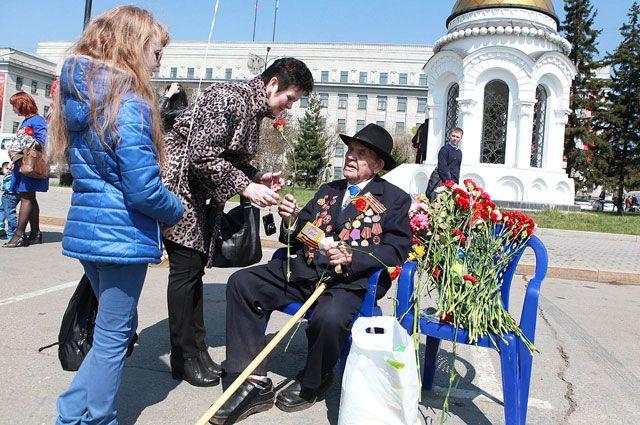 День Победы в Иркутске.