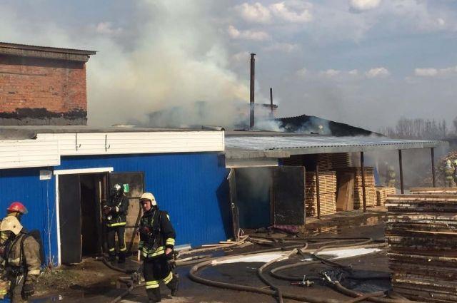 Пожар локализовали около 17 часов дня.