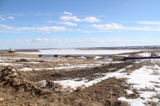 Река в районе Холмогорского разветвления