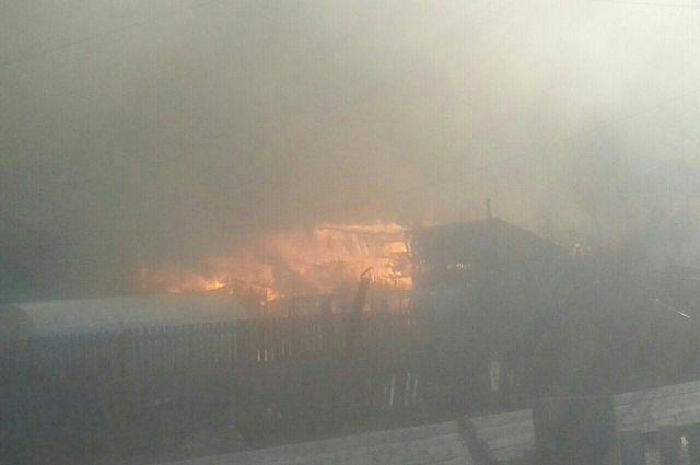 На пожаре в Бубновке обошлось без жертв.