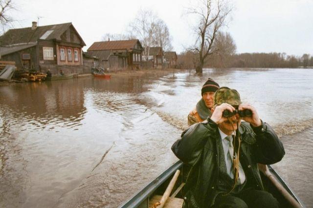 Уровень воды в Иньве на метр меньше, чем во время прошлогоднего половодья.