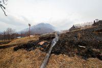 Пожарным ежедневно приходится тушить палы травы