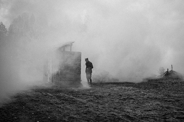 Перед тем, как оставить село, немцы сожгли школу