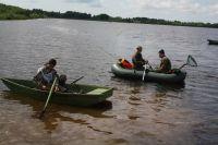 В Кузбассе рыбаки застряли на острове из-за высокой воды.