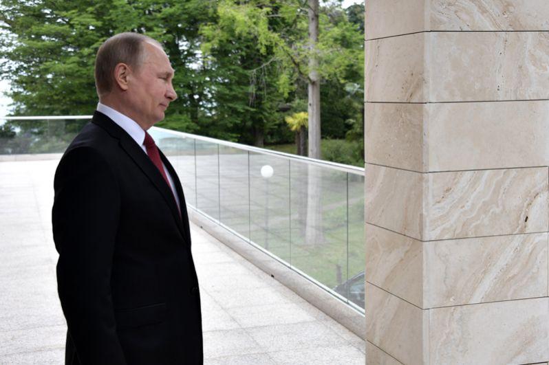 Президент РФ Владимир Путин во время встречи с президентом Турции Реджепом Тайипом Эрдоганом.