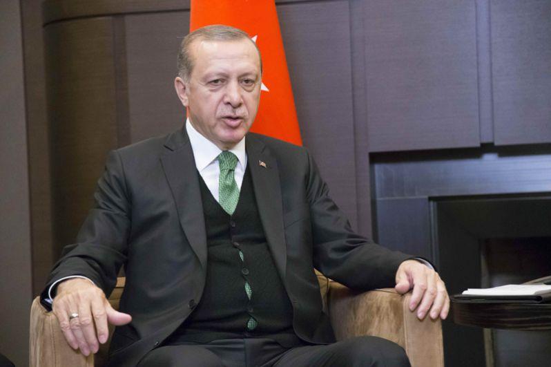 Президент Турции Реджеп Тайип Эрдоган во время встречи в Сочи.