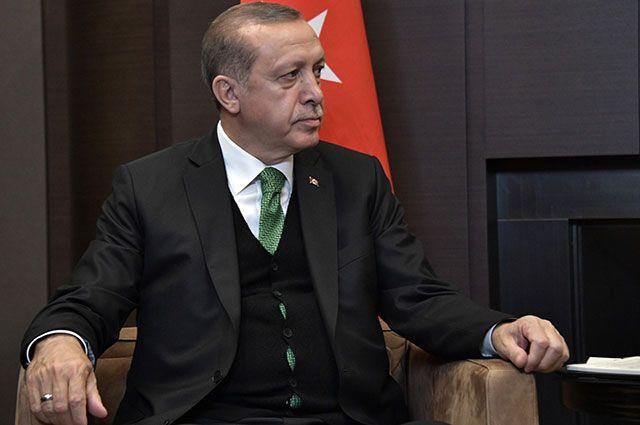 Реджеп Тайип Эрдоган на встрече с Владимиром Путиным в Сочи.