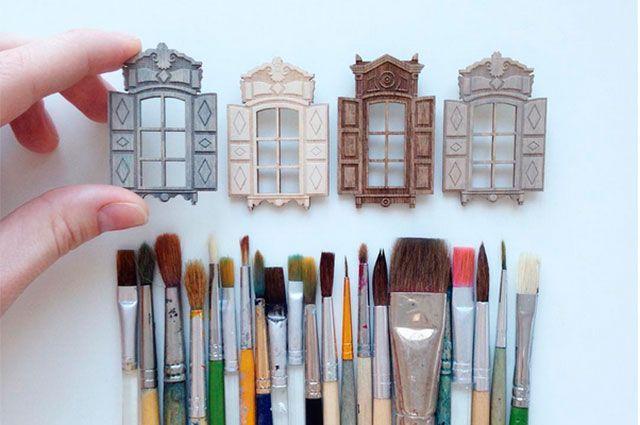 Брошки-окошки от иркутского дизайнера Анны Моисеевой.