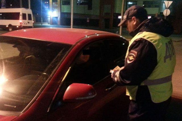 Полицейские проверки водителей в Иркутской области.
