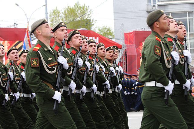 В Тюмени прошла первая репетиция Парада Победы