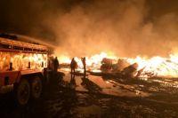 """В ночь на 4 мая в Кунгуре сгорели 10 """"газелей""""."""