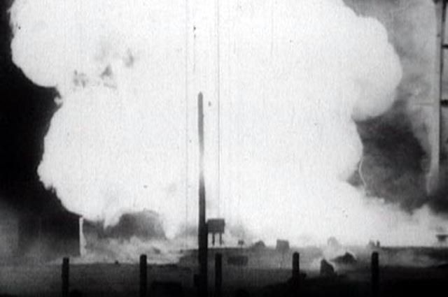Момент взрыва ракеты Р-16 попал на видео.