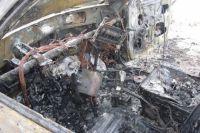 Чтобы скрыть убийство сообщники решили сжечь машину.