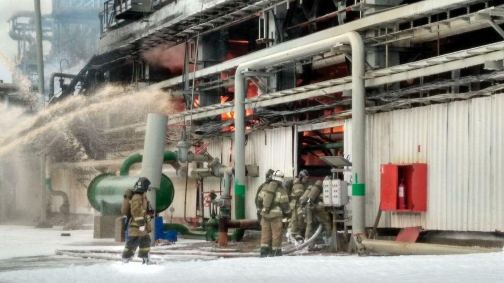 Пожар на ПНОСе в Перми.