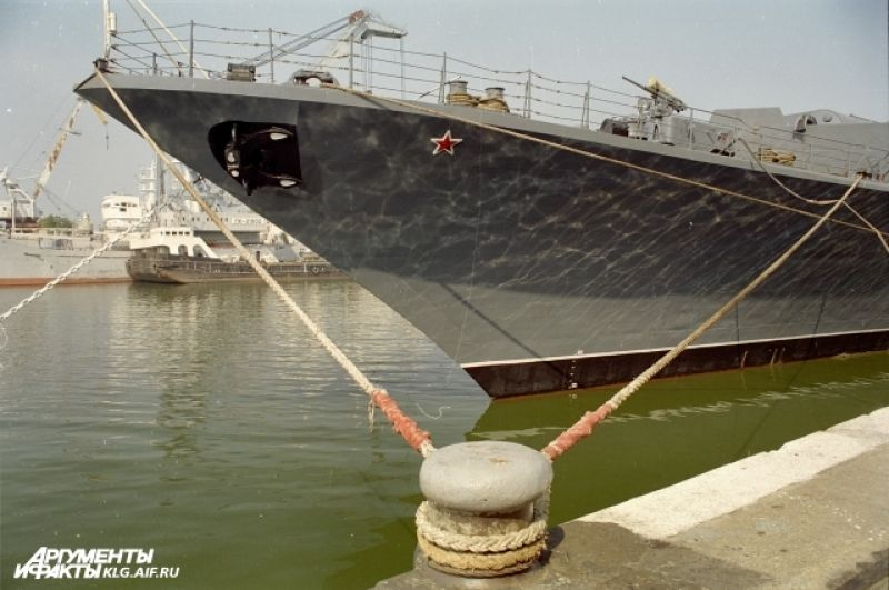 Так выглядел нос корабля, когда он еще нес боевую службу.