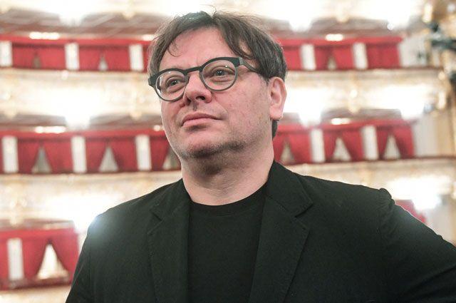 Валерий Тодоровский перед премьерой своего фильма «Большой» в Государственном академическом Большом театре России в Москве.