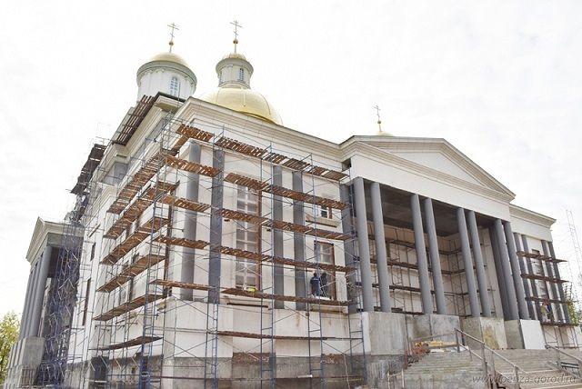 В Пензе продолжается строительство Спасского кафедрального собора.