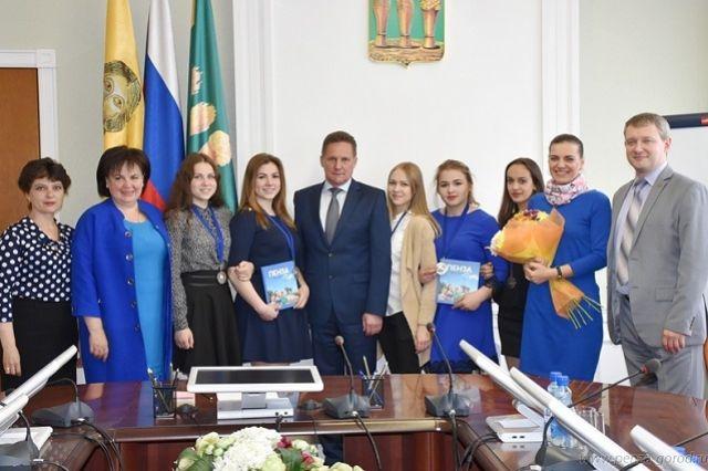 Пензенских победителей Дельфийских игр пригласили в администрацию города.