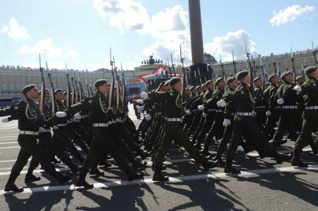 Генеральная репетиция Парада Победы состоялась наДворцовой площади