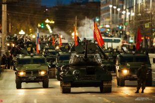 Генеральная репетиция парада Победы 5 мая в Екатеринбурге.