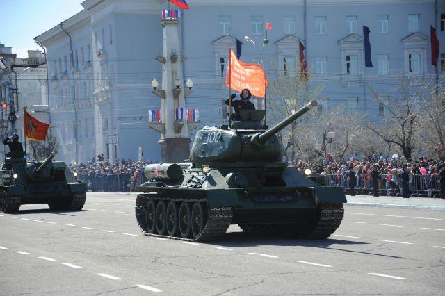 Военный парад в Чите