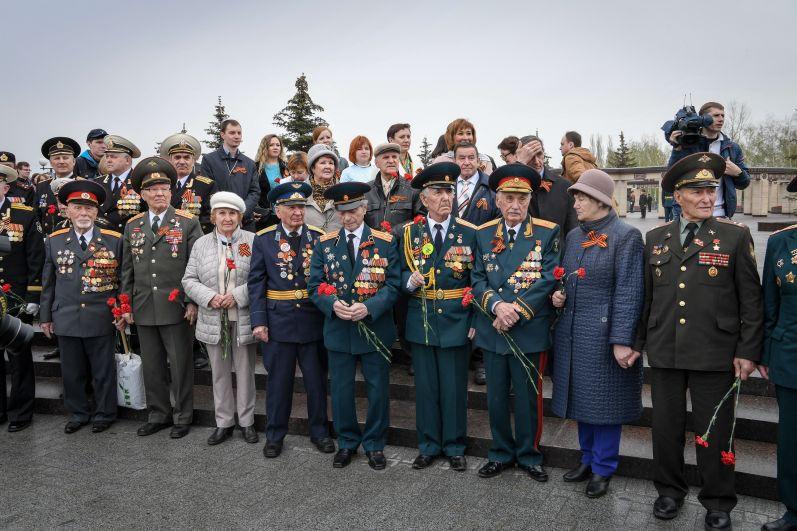 Ветераны в Парке Победы.