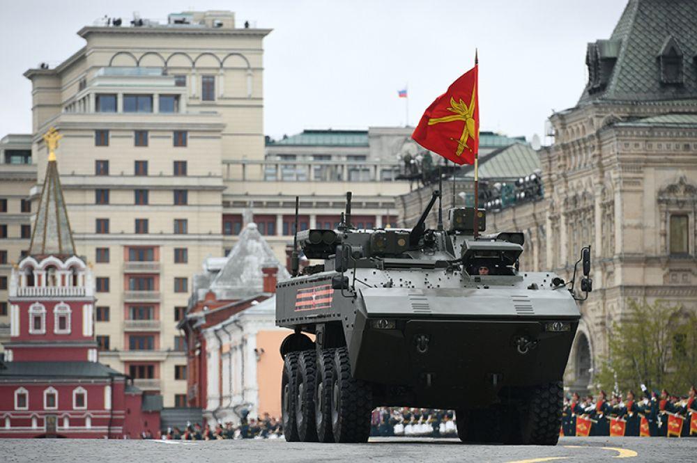 БМП на базе платформы ВПК-7829 «Бумеранг» на военном параде на Красной площади, посвященном 72-й годовщине Победы в Великой Отечественной войне.