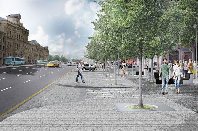 Через три месяца всё на Новой площади будет прекрасно - и тротуары, и разметка, и деревья.