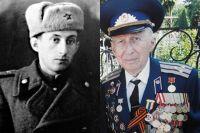 Борис Стекляр в годы войны и сейчас.