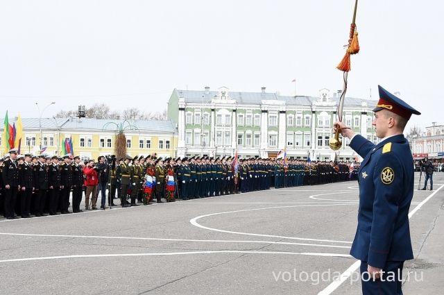 Парад войск Вологодского гарнизона