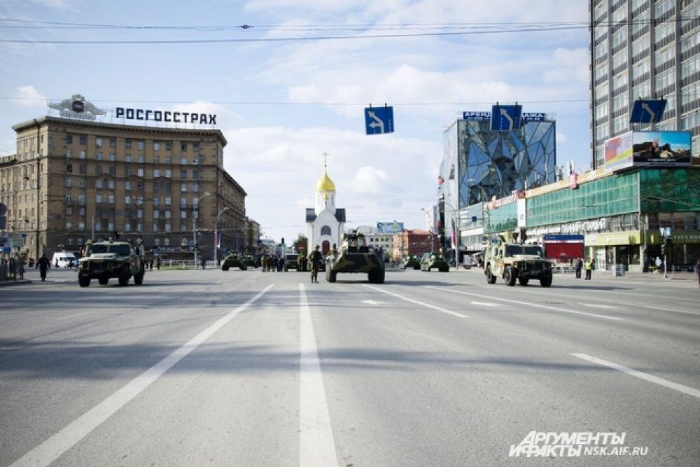 В День Победы было перекрыто несколько главных улиц города