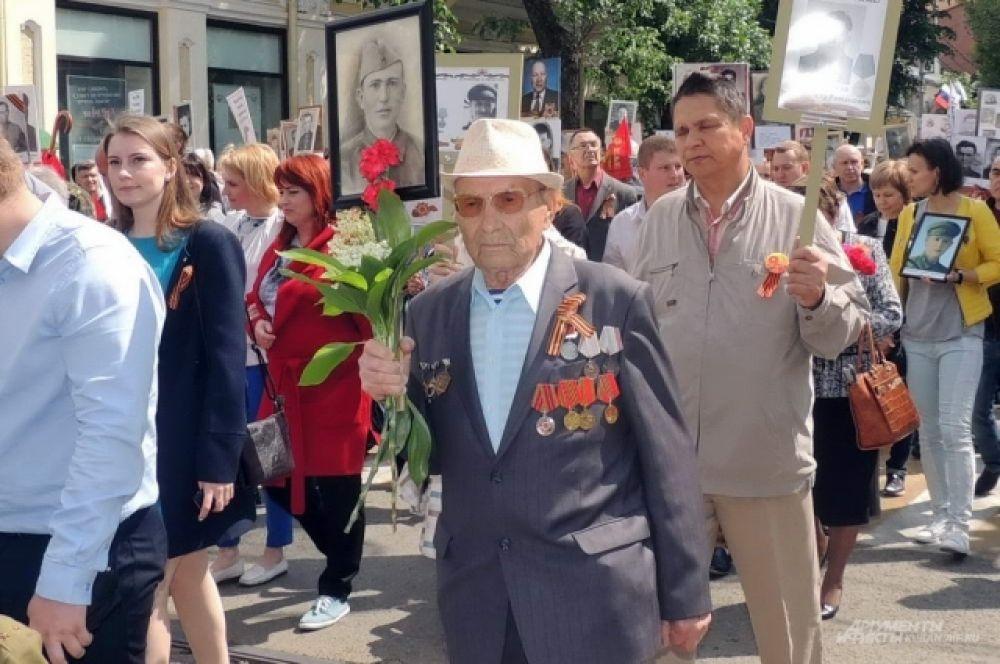 Этот ветеран войны тоже принял участие в шествии «Бессмертного полка».