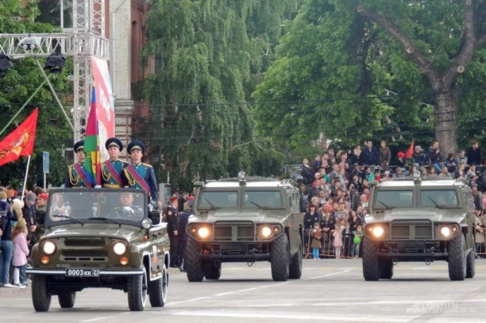 Начало технической части парада.