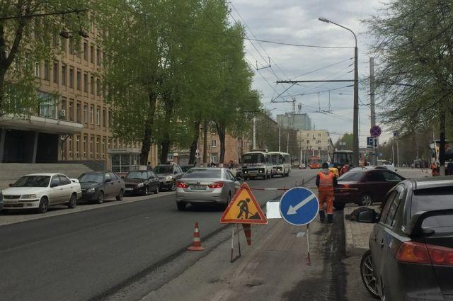 В столице Кузбасса продолжается ремонт дорог.