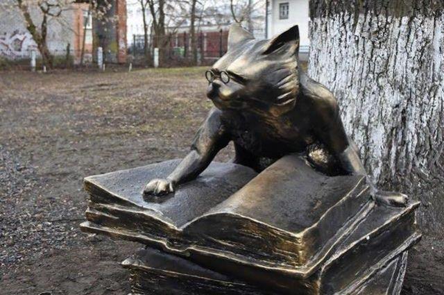 Памятник коту ученому ярославль гранитные памятники в уфе новосибирске