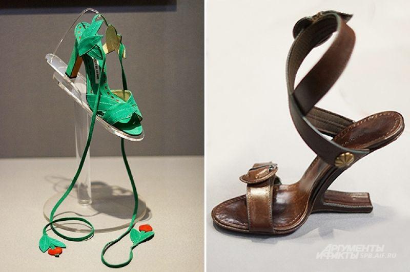 На выставке представлены более 200 туфелек.