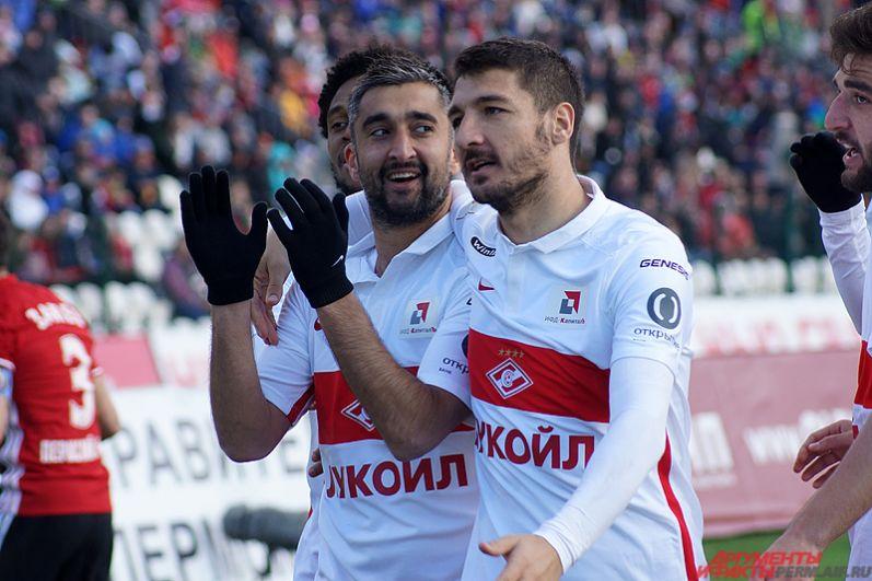 Единственный гол на 50-й минуте матча забил полузащитник «Спартака» Александр Самедов.