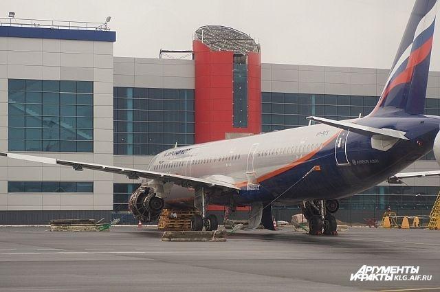 Левую новую часть здания пассажирского терминала планируется открыть в первых числах июня.