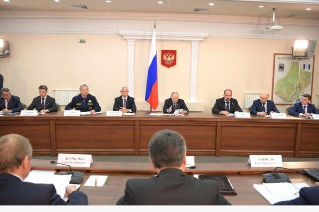 Совещание Владимира Путина в Иркутске.